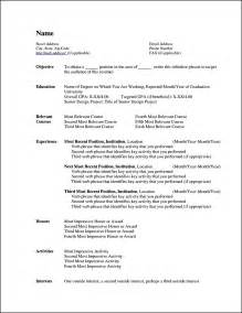 Resume Templates For Microsoft by Curriculum Vitae Templates For Microsoft Word Free Sles Exles Format Resume