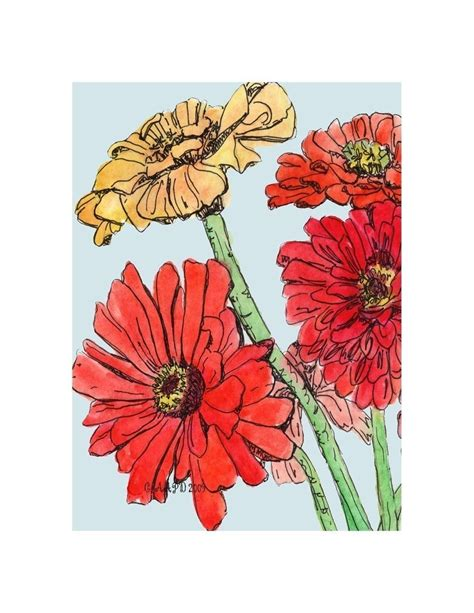 zinnia tattoo designs farmer s market zinnias print