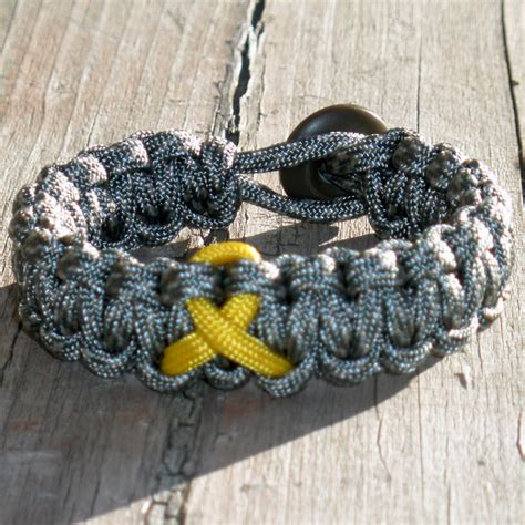 Parachute Cord Bracelet with Awareness Ribbon   $9.95   Paracord Bracelets Parachute Cord