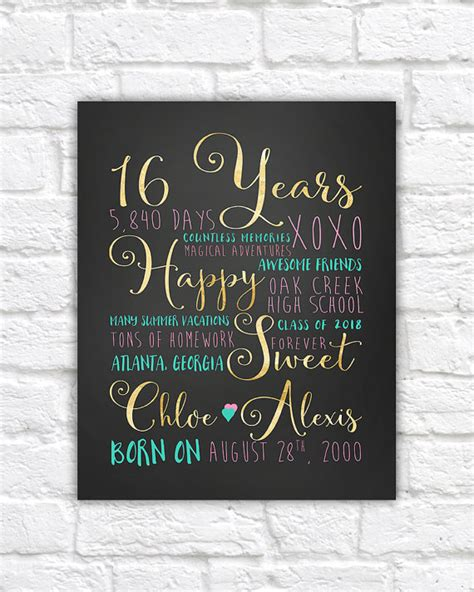 gifts for 16 year sweet sixteen 16th birthday gift gift for best friend