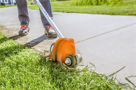 stihl bed edger expanded line of stihl edgers delivers power and