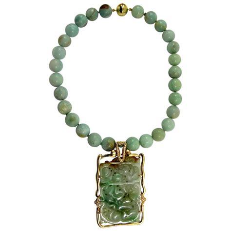 aventurine quartz bead jade gold pendant necklace for sale