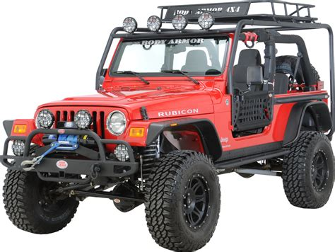 body armor jeep roof rack body armor tj 6125 roof rack base kit for 97 06 jeep