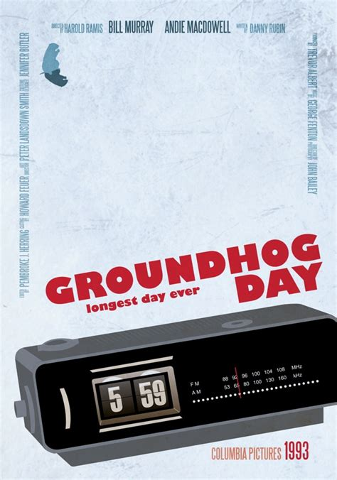 groundhog day poster alternative posters minimal re makes by aycan yilmaz