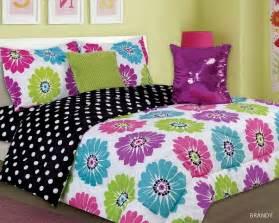 Owl Comforter Set Queen 4 5pc Bright Pink Purple Lime Aqua Floral Design Kid S