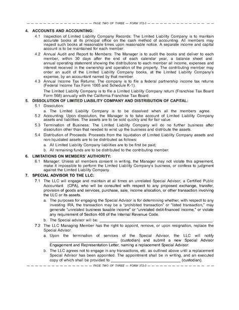 ira llc operating agreement template the sdira llc operating agreement boilerplate for your