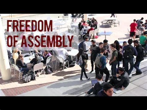 Freedom To Assemble Is Outlined In Which Amendment by Freedom Of Assembly