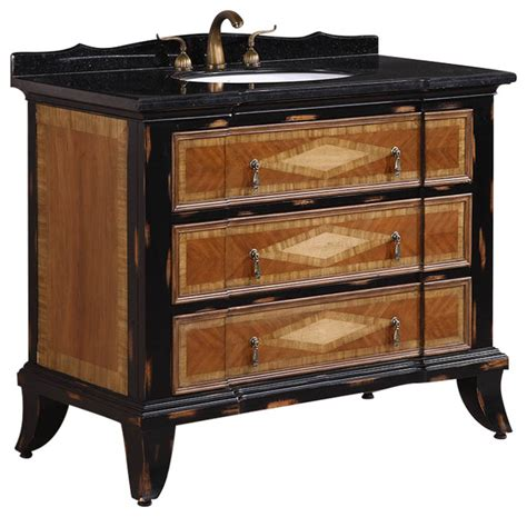 Asian Bathroom Vanities Solid Wood Sink Vanity With Granite Top 44 Quot Asian Bathroom Vanities And Sink Consoles By