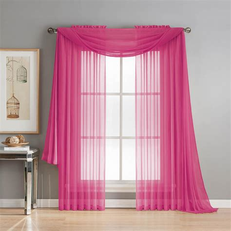 sheer pink curtains pink sheer curtains au hot pink sheer curtain panels