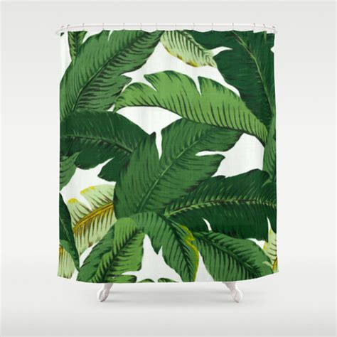 palm leaf curtains palm leaf shower curtain banana leaves shower curtain tropical