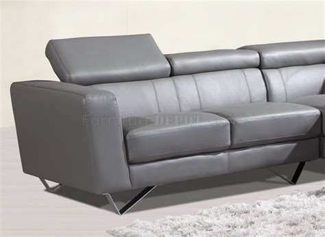 Sectional Sofa Usa by 6201 Sectional Sofa In Grey Leather By At Home Usa