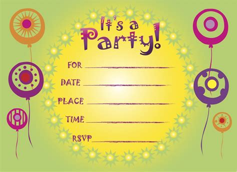 printable children s party invitations free printable birthday invitations 5 coloring kids