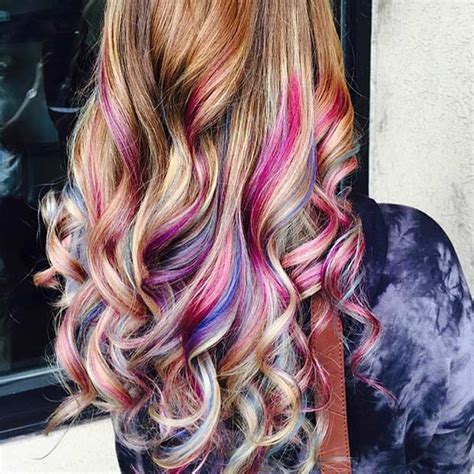 images of multi colored highligts 21 looks that will make you crazy for purple hair stayglam