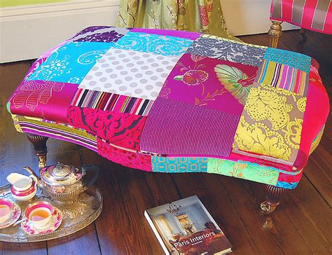 avignon patchwork footstool by gb