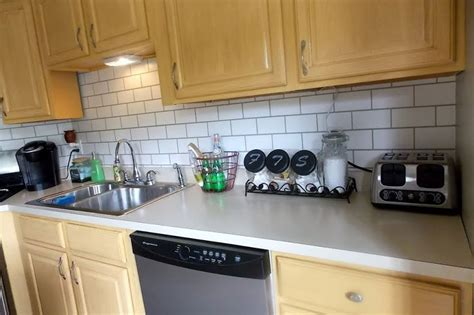 rental rehab 13 removable kitchen backsplash ideas
