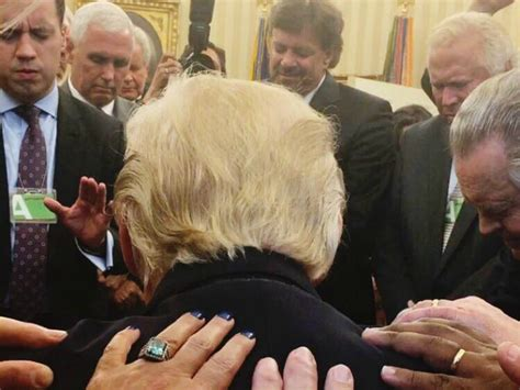 trump oval evangelical leaders pray over trump in oval office