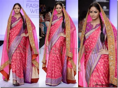 double saree draping double saree drape unique and innovative saree draping