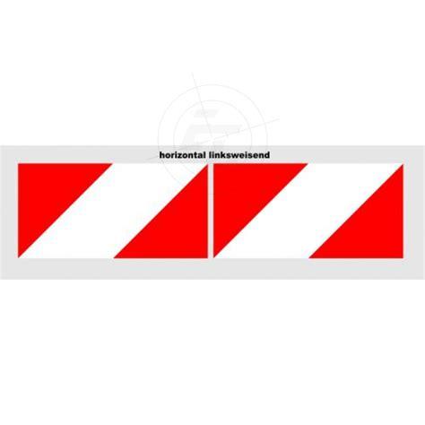 Kfz Warnaufkleber warnaufkleber rot weiss 141 mm reflexfolie mit wabenstruktur