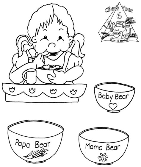 printable coloring pages for goldilocks and the three bears porridge clipart goldilocks pencil and in color porridge