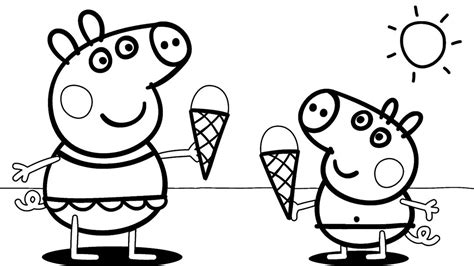 nick jr coloring pages peppa pig peppa pig coloring pages free 6 throughout auto market me