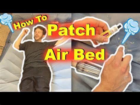 find patch hole  air bed mattress jonny diy