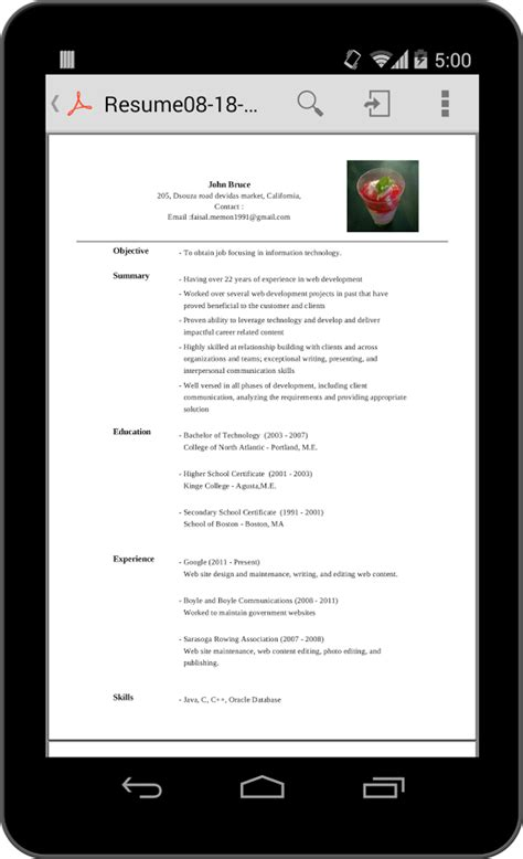 mobile resume builder resume builder helps to make resumes on mobile