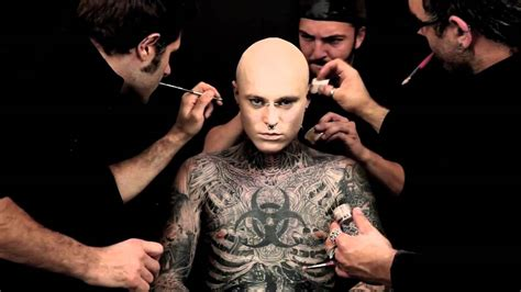 full body tattoo cover up makeup meeting zombie boy rico aka rick genest boudoir girls