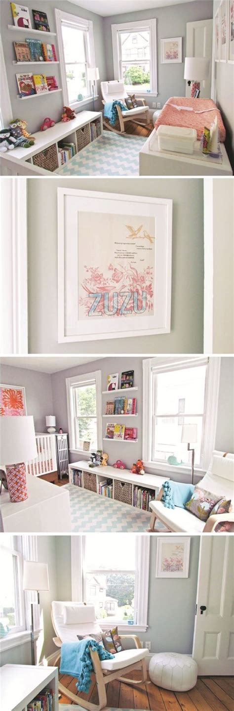 beautiful baby room love the shelves for books baby