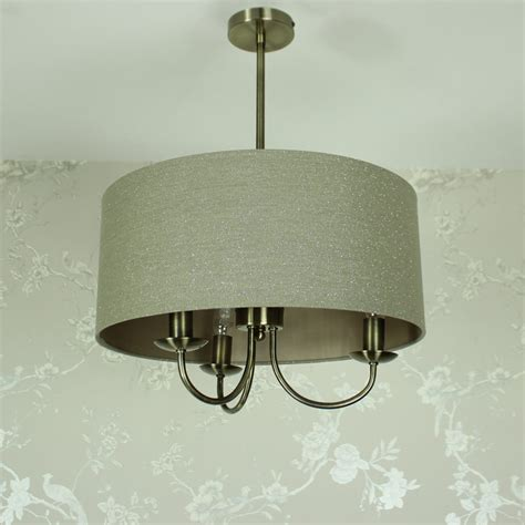 ceiling light 3 arm matching hanging ceiling light fitting pendant 3 arm beige linen glitter bedroom room ebay