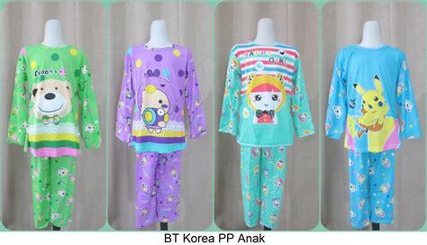 pusat grosiran baju tidur korean anak cp pp 3 4 murah