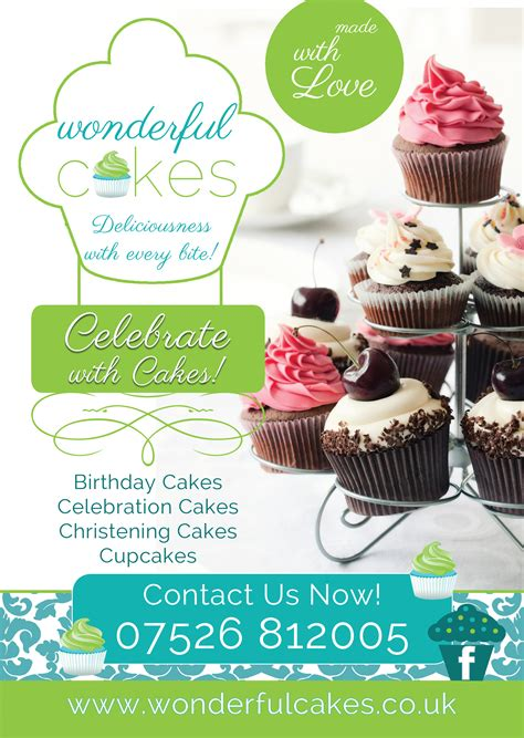 cake flyer template free wonderful cakes flyer design branding