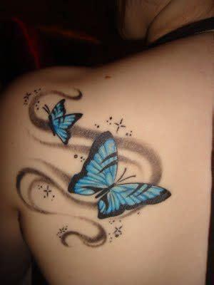 papillon tatouage