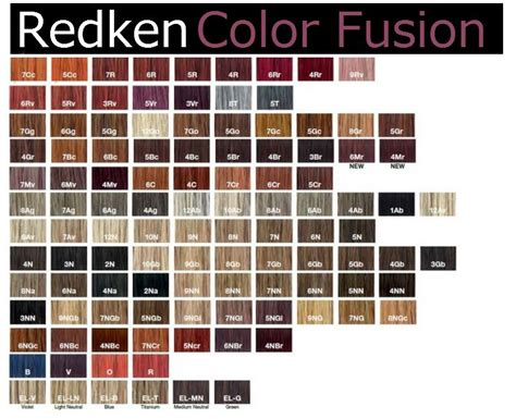 redken chromatics color chart redken hair color chart carol g redken