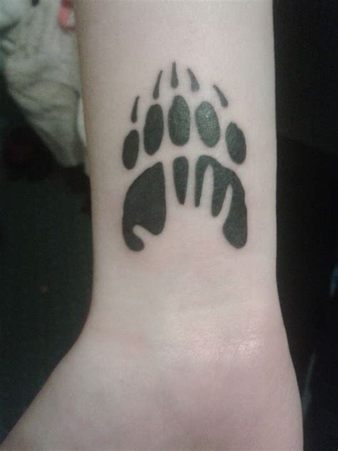bear paw tattoos designs ideas and meaning tattoos for you