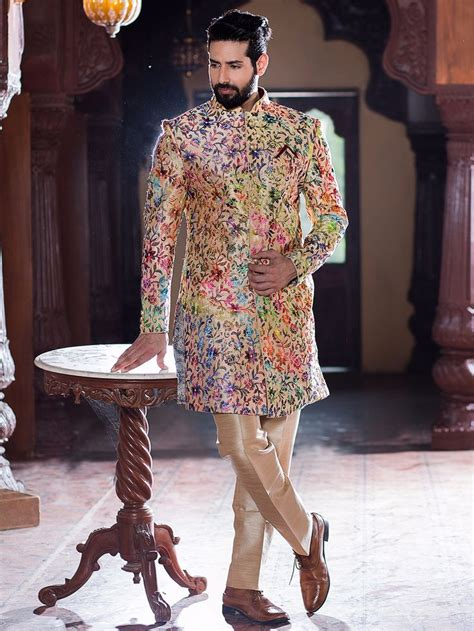 Wedding Wear For by Silk Wedding Wear Indo Western Sherwani Kurta