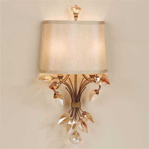 Gold Bathroom Sconces Leaf Metal Wall Sconce