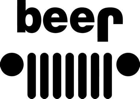 jeep beer beer jeep vinyl decal fd1039