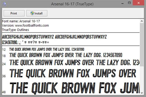 arsenal font 2017 arsenal 2016 2017 ttf font vector number included