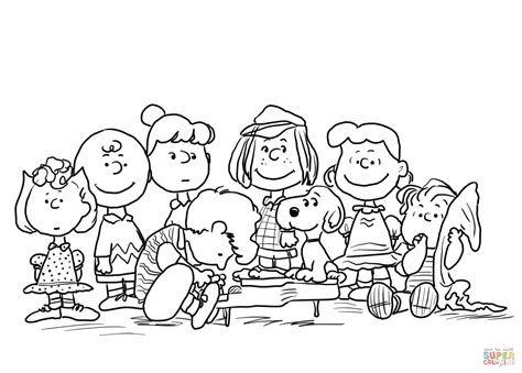 Peanuts Characters Coloring Page Free Printable Coloring Peanuts Coloring Pages