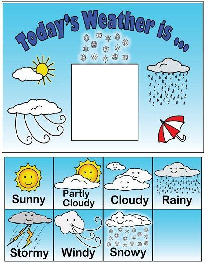 kindergarten themes weather observe and keep track of the weather each day with this