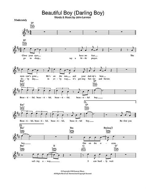 Beautiful Boy (Darling Boy) chords by John Lennon (Melody