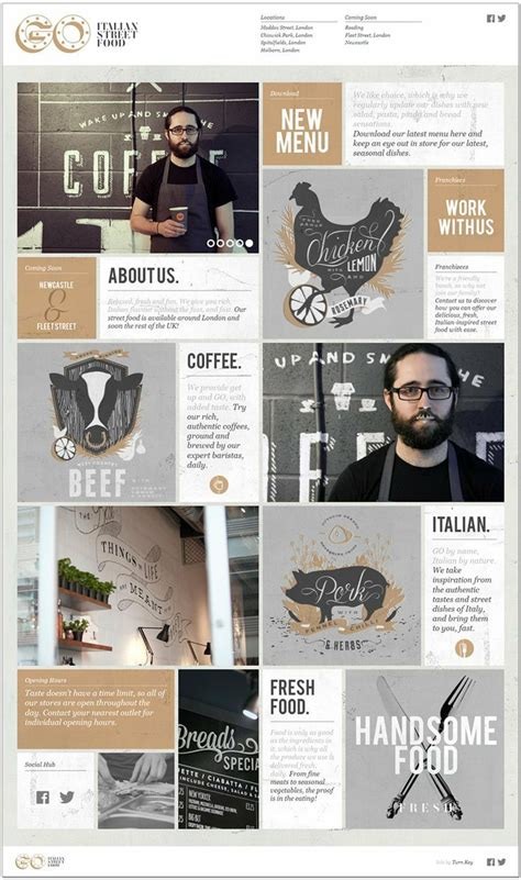 grid layout website inspiration how great is this coffee inspired masculine color palette
