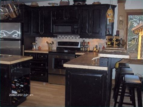 Discount Kitchen Cabinets Kansas City raised maple painted black cabinets plus of muskoka