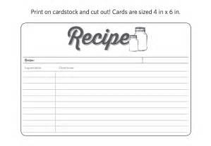 recipe for friendship template 20 free printable cards templates