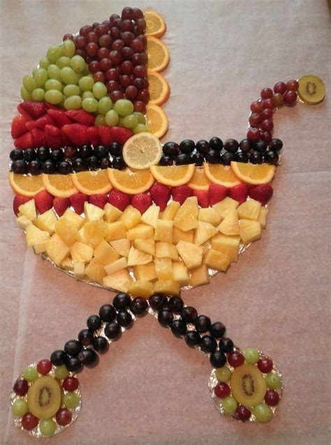 Fruit Baby Shower Ideas by Baby Carriage Fruit Disply For Baby Shower