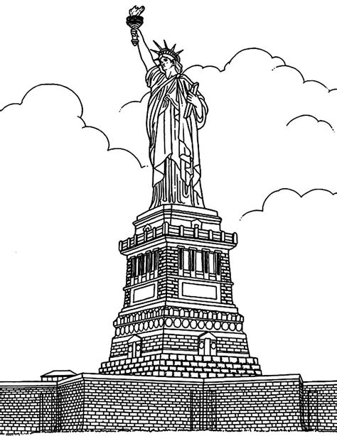 new york coloring book pages free coloring page coloring adult new york statue liberte