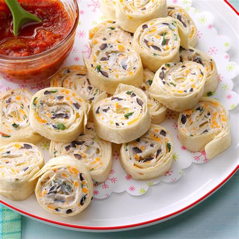 pinwheel recipes appetizer tortilla pinwheels recipe taste of home