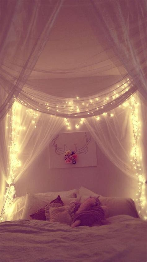 how to add lights to headboard 23 amazing canopies with string lights ideas bedroom