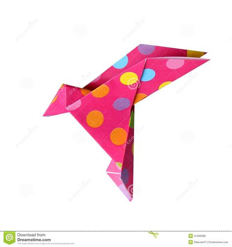 Origami With 8 5x11 Paper - origami bird stock photo image of background origami