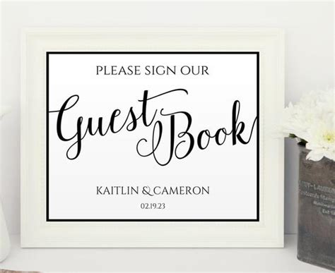 Wedding Sign Templates 8 X 10 Download By Karmakweddings On Etsy Sign Our Guest Book Template